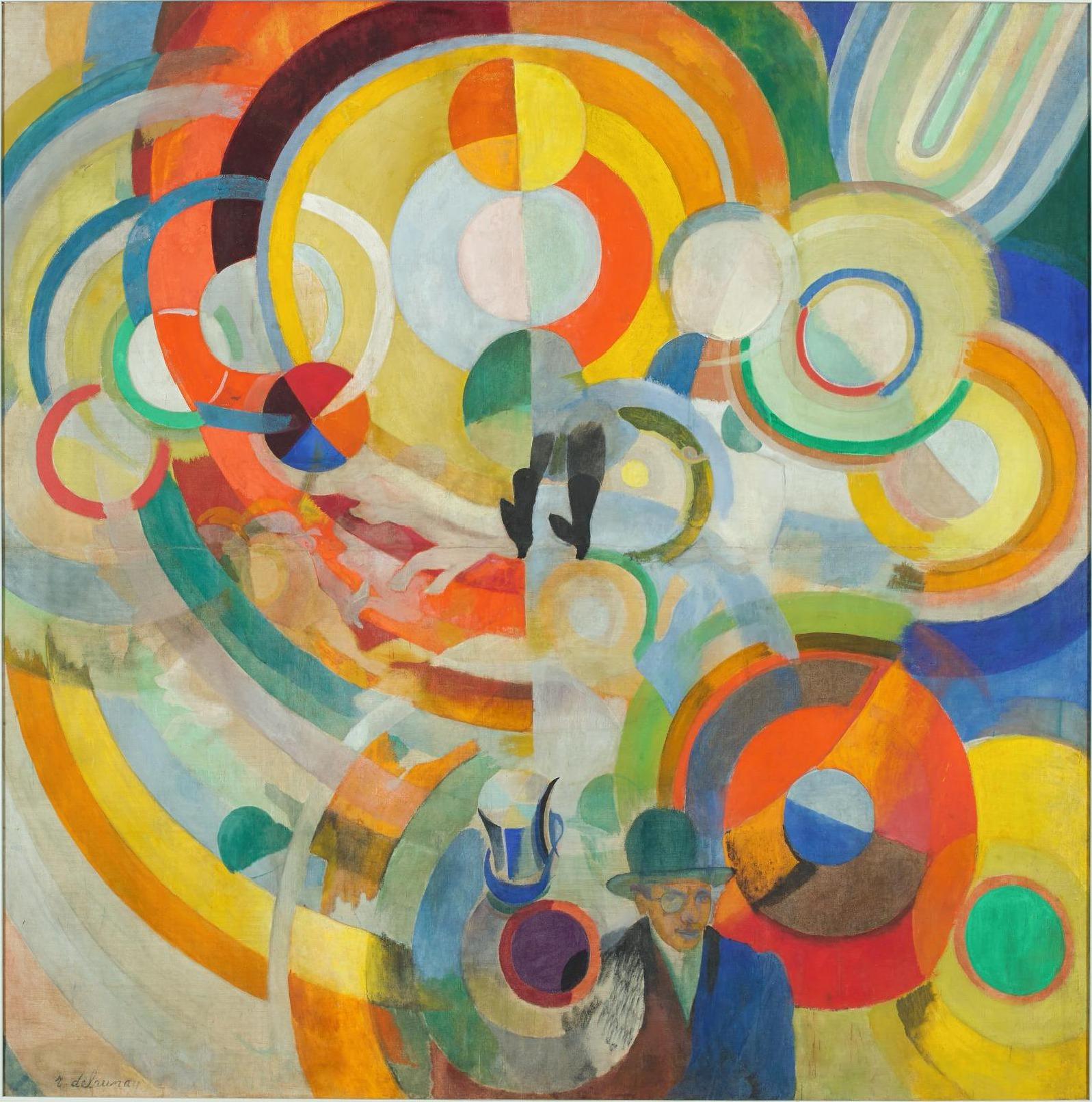 """Robert Delaunay, """"Manège de cochons (Manège électrique)"""", 1922"""