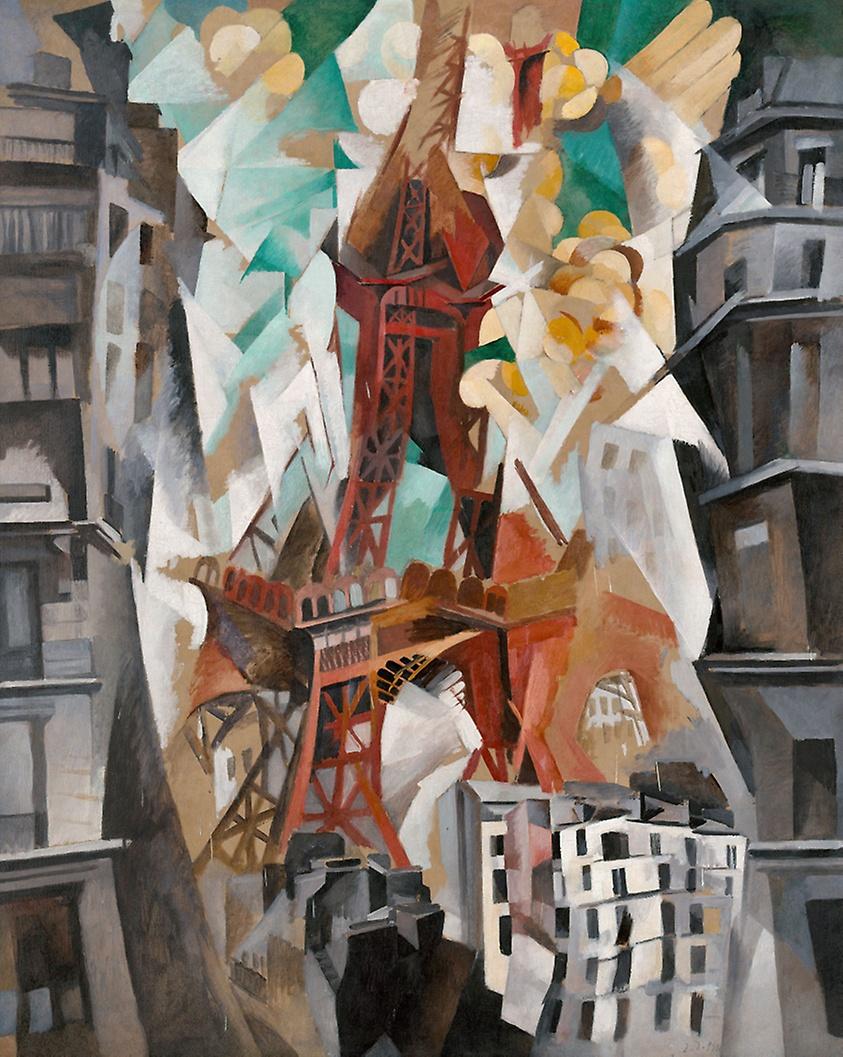 """Robert Delaunay, """"Campo di Marte: la torre rossa"""", 1911-1923"""
