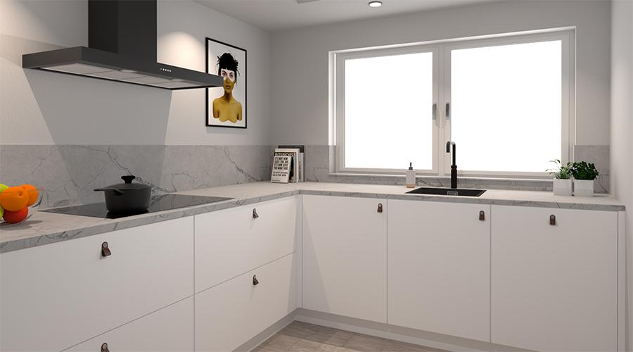 witte-keuken-marmeren-blad