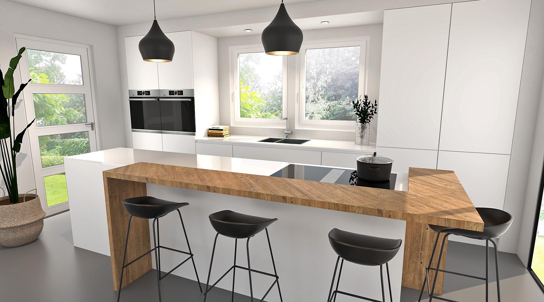 witte-keuken-met-houten-bar