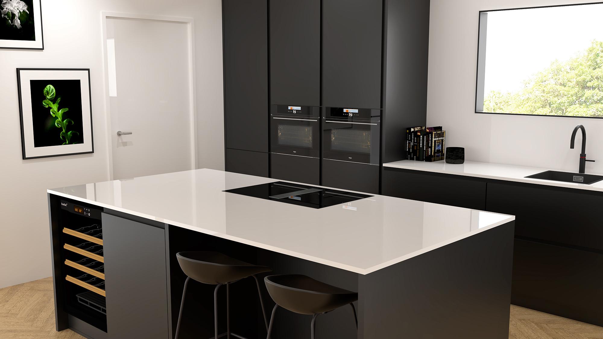 zwarte-keuken-composiet-dun-werkblad