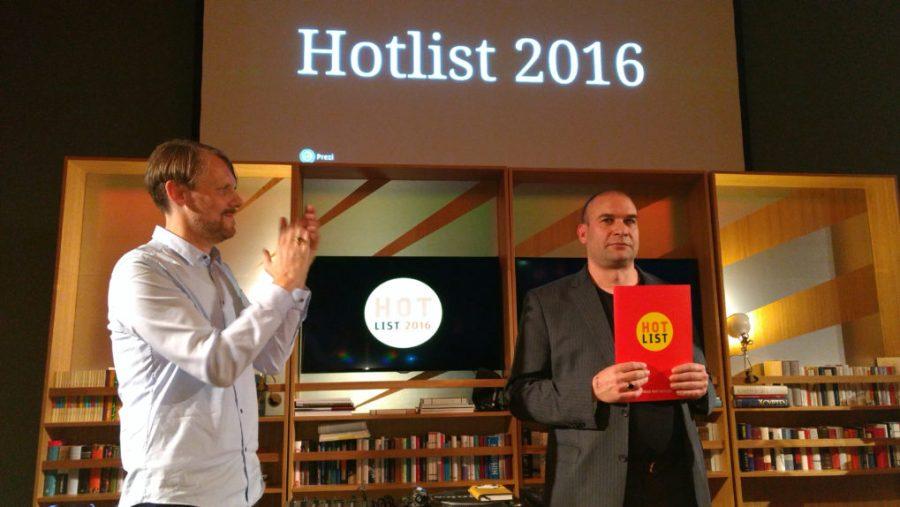 Preisträger der Hotlist 2016: Christoph Haacker, Arco Verlag, Hauptpreis der Hotlist 2016