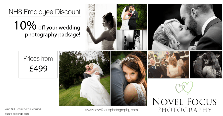 NHS wedding photography discount