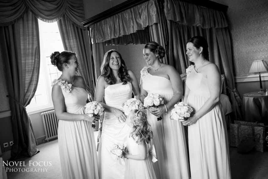 bridal preparation on wedding day near cheltenham