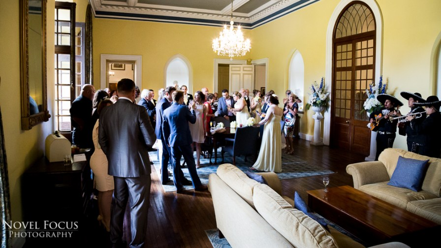 wedding reception photograph clearwell castle