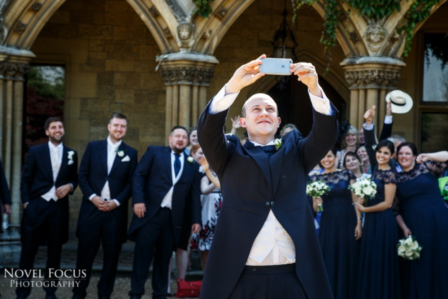 groom taking selfie
