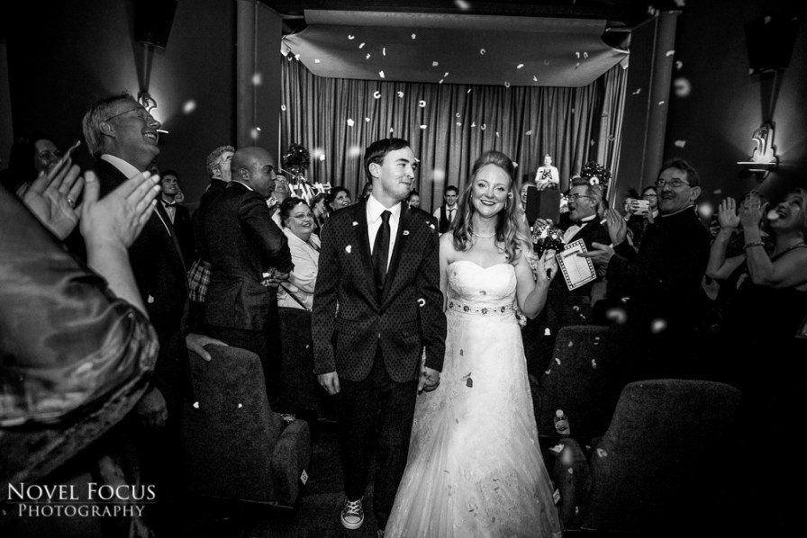 wedding confetti ceremony theatre