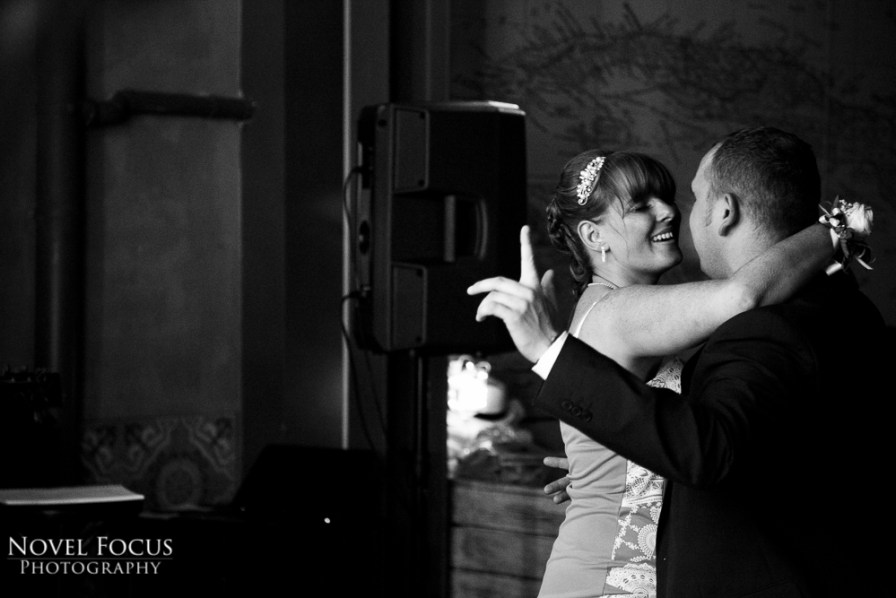 Guests dancing at a wedding reception in Cardiff