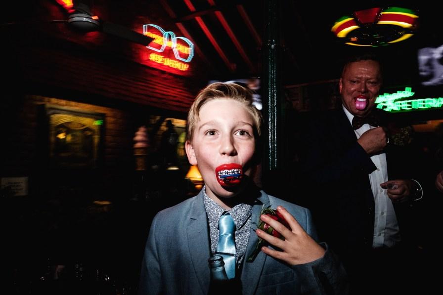 wedding reception in 50s diner smokey joes reportage