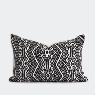 Adah | Black & White Jacquard | 60x40cm