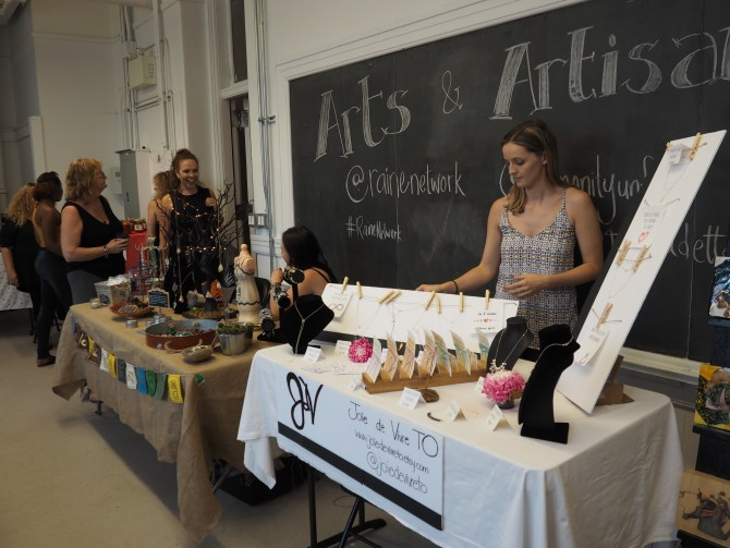 Miss Soul Jewellery (L) and Joie de Vivre were two of the vendors on Sunday.