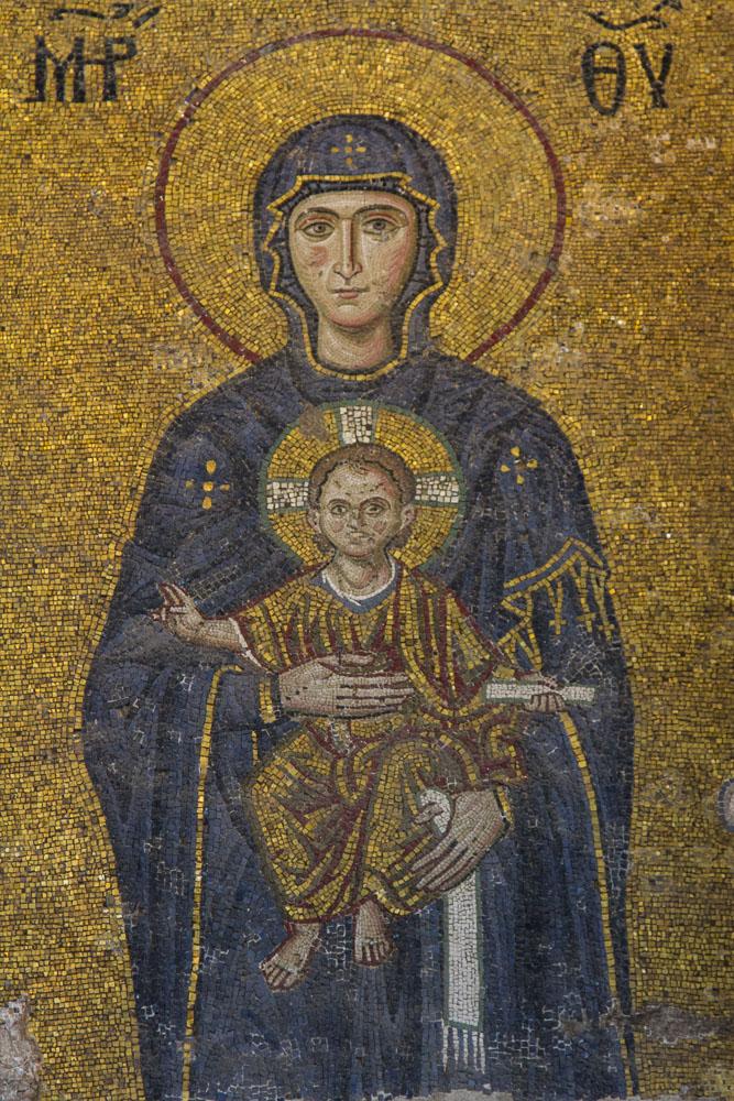 Mosaic Detail, Hagia Sofia, Istanbul Turkey