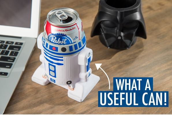 Darth Vader and R2-D2 keep drinks cold