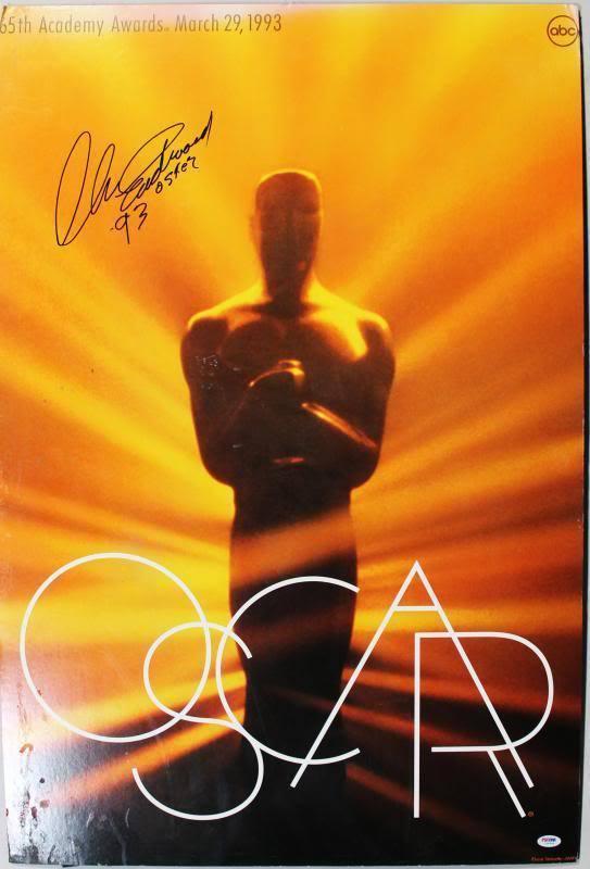 """Clint Eastwood """"93 Oscar"""" Signed Oscar Poster"""
