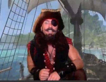 This pirate will act and say anything you want