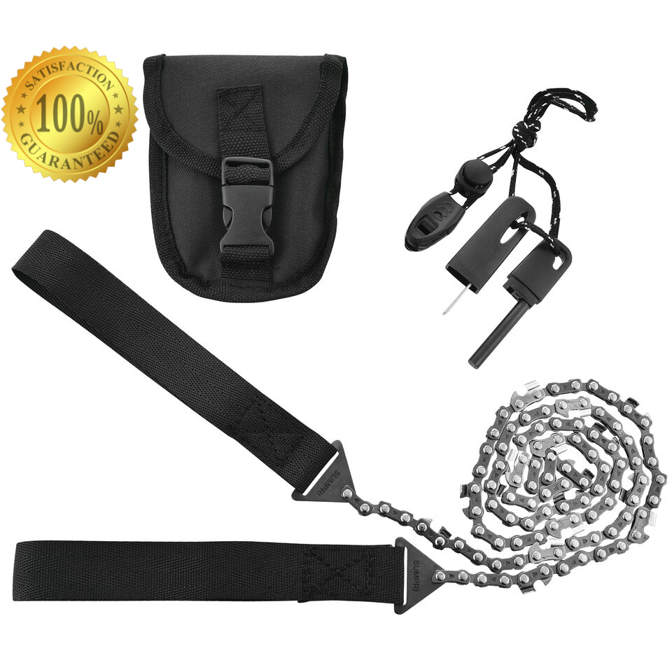 Camping Pocket Chainsaw & Fire Starter Kit