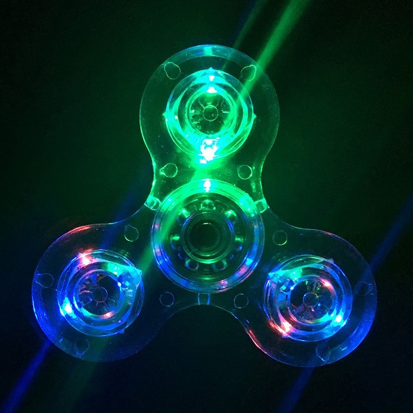 Crystal Clear LED Light Fidget Spinner