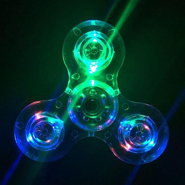 Crystal Clear LED Light Fidget Spinner