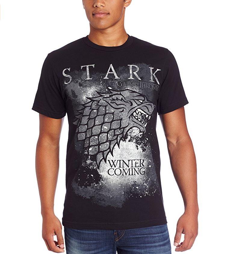 Game of Thrones Men's Winter Is Coming Stark T-Shirt