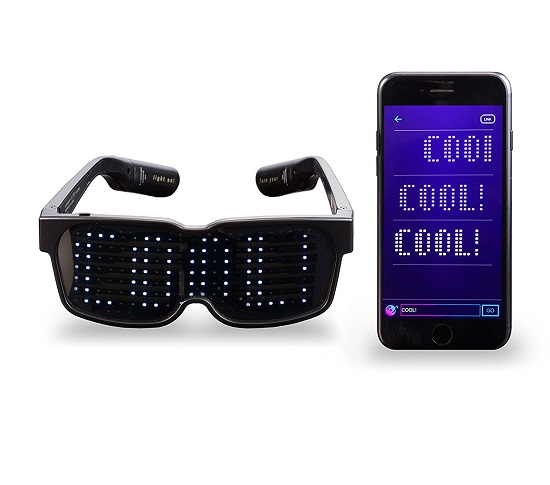 Unique Bluetooth LED Glasses