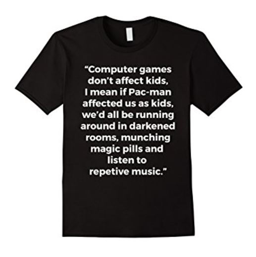 Computer games don't affect kids shirt