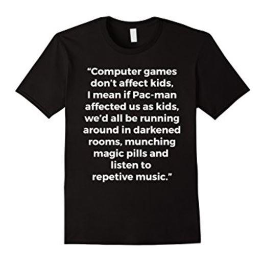 Computer games don't affect kids shirt