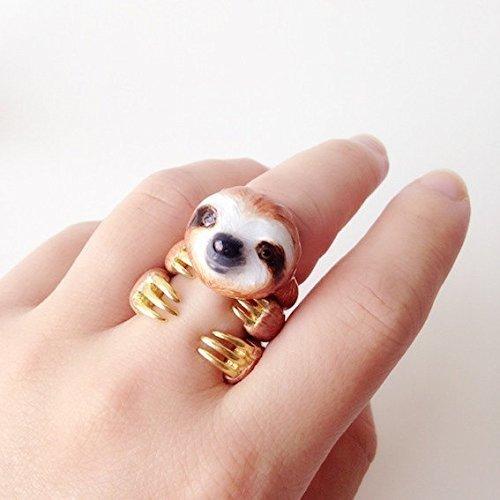 Sloth Enamel Rings