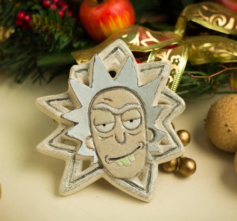 Handmade Rick Sanchez Plaster Christmas Ornament