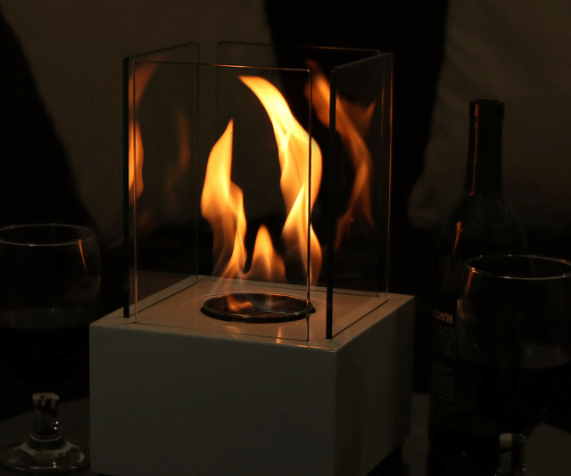 Sleek Indoor Tabletop Fireplace