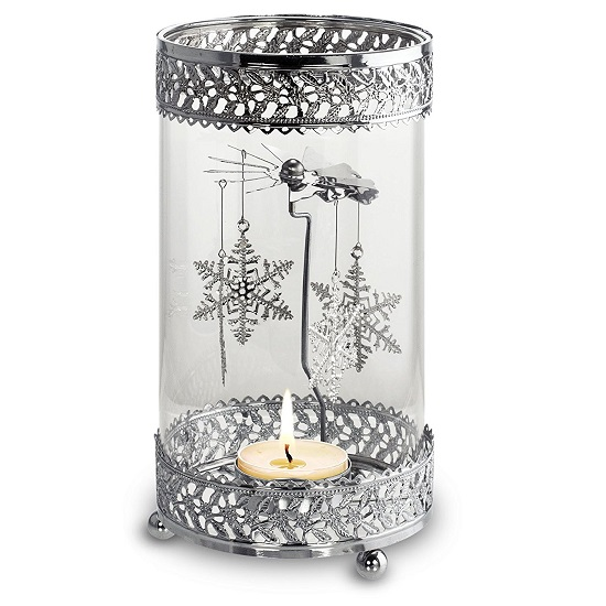 Spinning Snowflakes Convection Candle