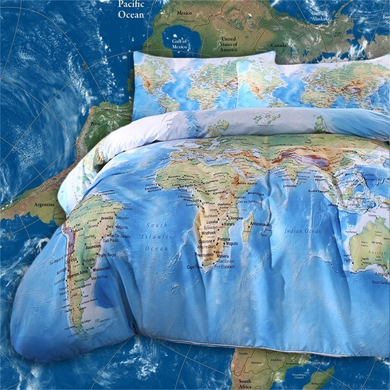 World map bedding set novelty gift ideas the hidden zipper closure is convenient to put your duvet in and out inside ties are added to keep your duvet at place the sturdy zipper is beautifully gumiabroncs