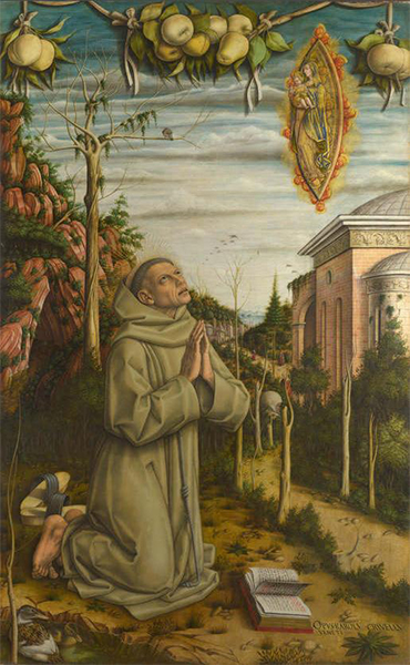 The Vision of the Blessed Gabriele - Carlo Crivelli