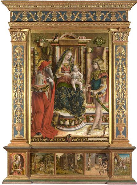 La Madonna della Rondine (The Madonna of the Swallow) - Carlo Crivelli
