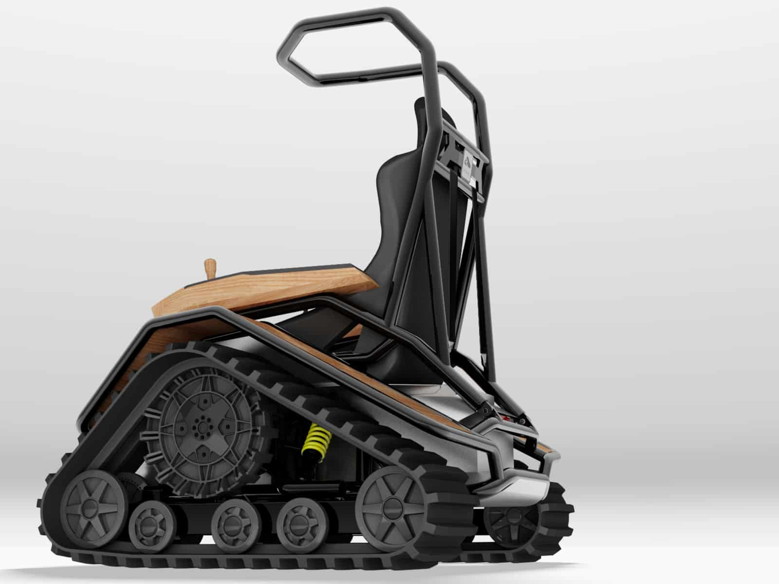tank chair wheelchair fishing kayak der ziesel off road driving machine noveltystreet