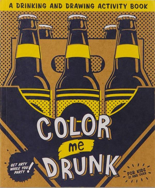 Color Me Drunk : color, drunk, Color, Drunk:, Drinking, Drawing, Activity, NoveltyStreet