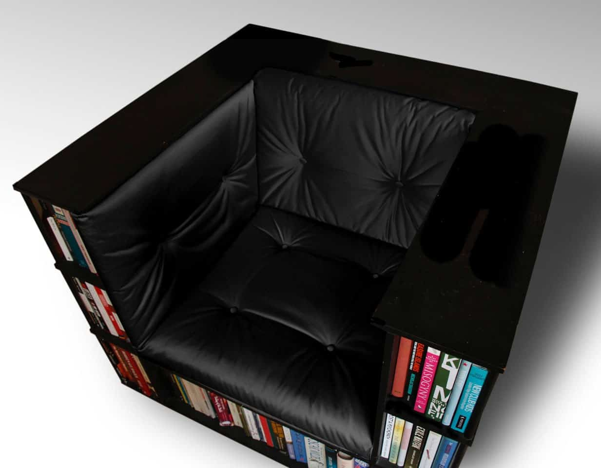 chair with built in bookshelf pickup truck tailgate luxury club library bookcase by alexander love