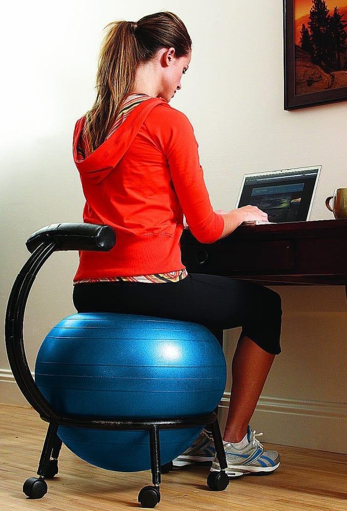 workout ball chair rattan basket gaiam custom fit balance - noveltystreet