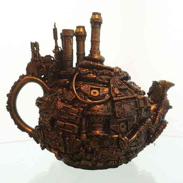 Richard Symons Techno Steampunk Teapot Sculpture