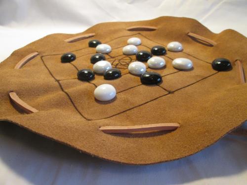 Nine Men's Morris Game Pouch