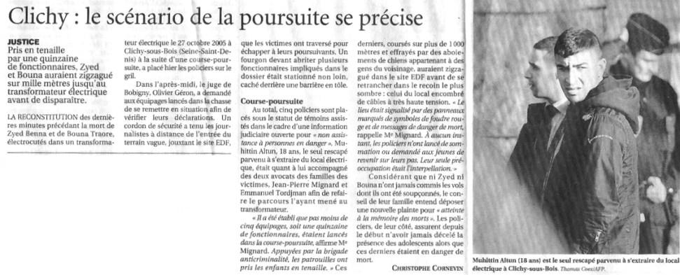 15.12.2005 - Le scénario de la poursuite se précise - Le Figaro