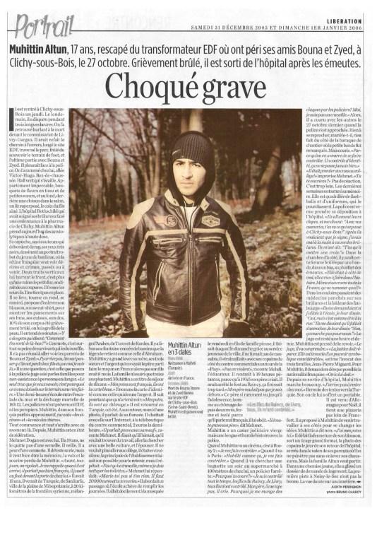 31.12.2005 - Portrait Muhittin Altun, Libération