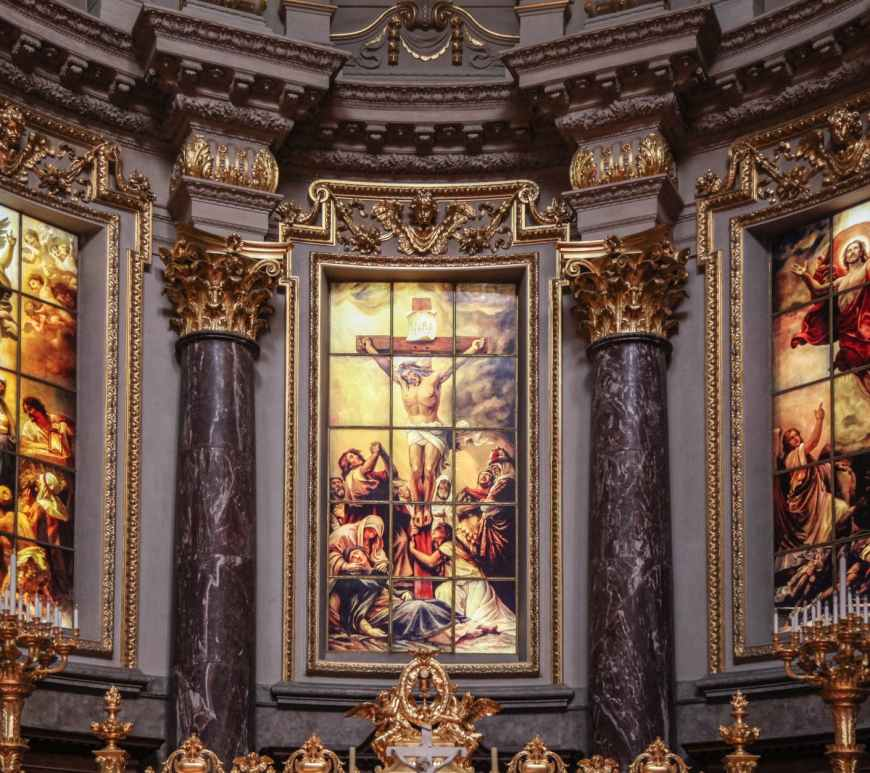 jesus christ glass painting