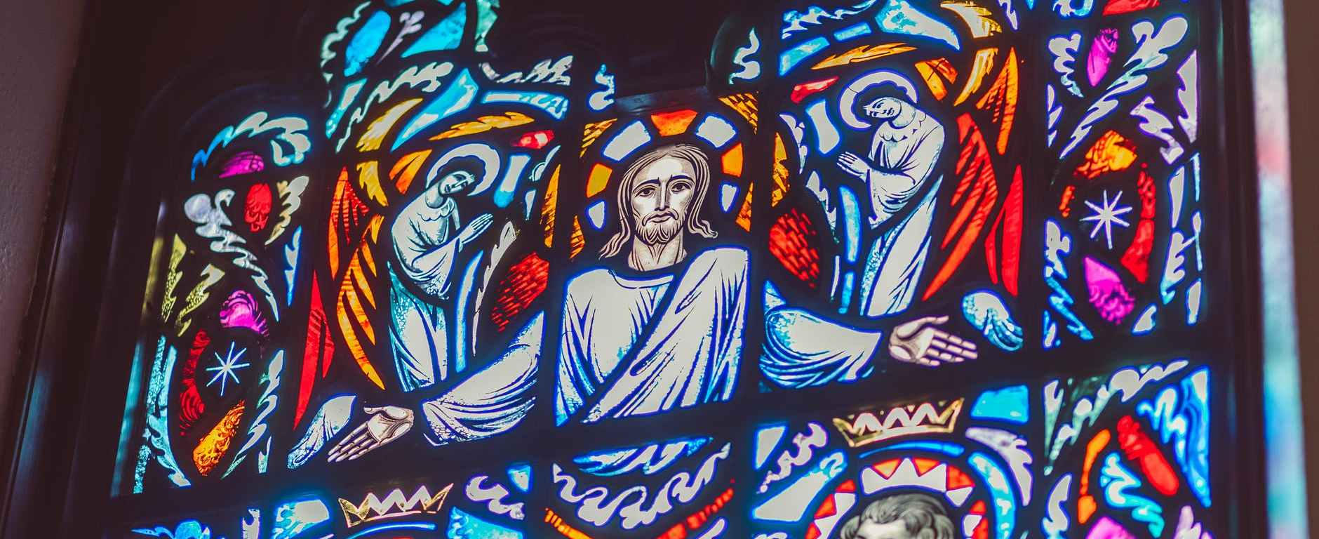 jesus image on stained glass