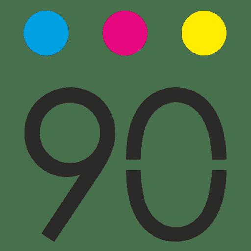 logotipo noventa.es diseño gráfico
