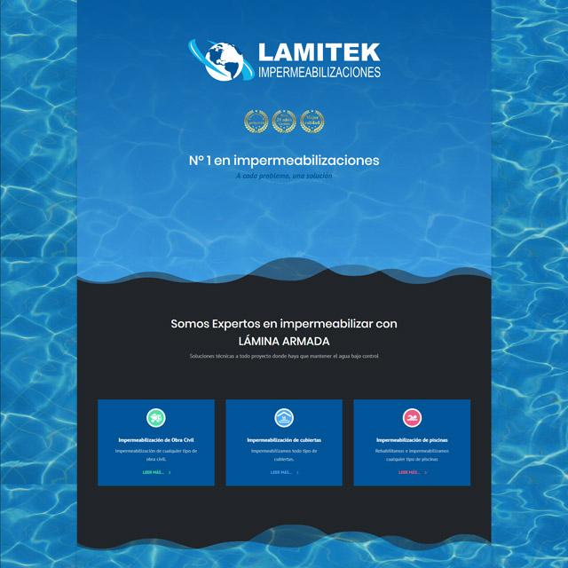 Web Lamitek noventa.es diseño web