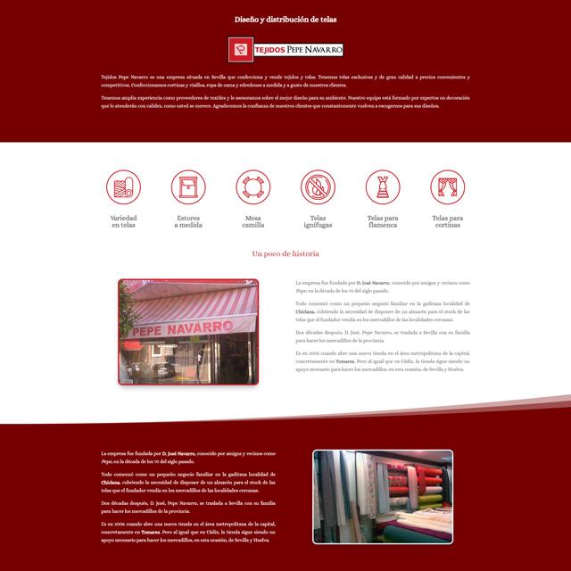 Web Tejidos Navarro noventa.es diseño web
