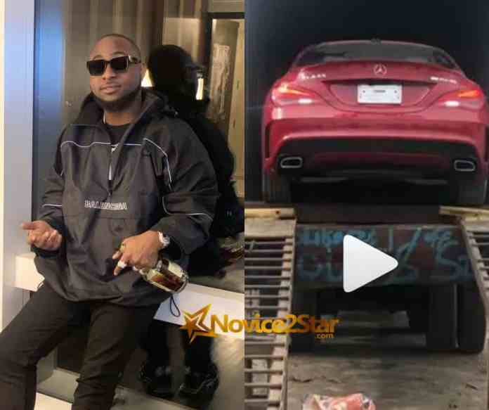 Davido Buys Him (Lati )A Brand New Mercedes Benz