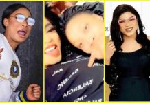 Tonto Dikeh Touching Bobrisky's B00bs on Bed (SEE VIDEO)