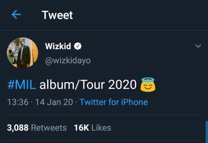 Wizkid Set To Drop