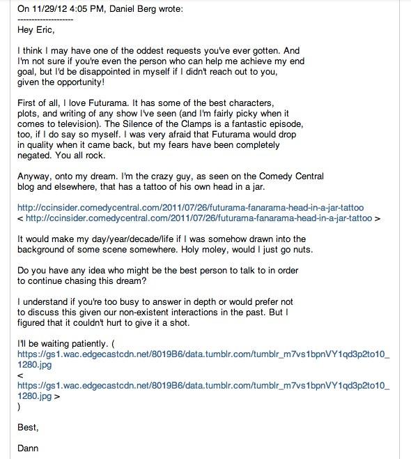 Futurama Email 1